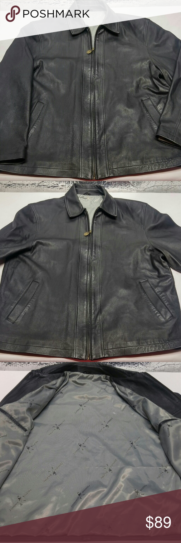 Jonnie Walker Whiskey Sleek Quality Leather Jacket Great