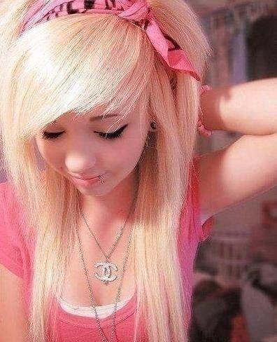 10 Emo Hairstyles For Girls With Medium Hair Blonde Scene