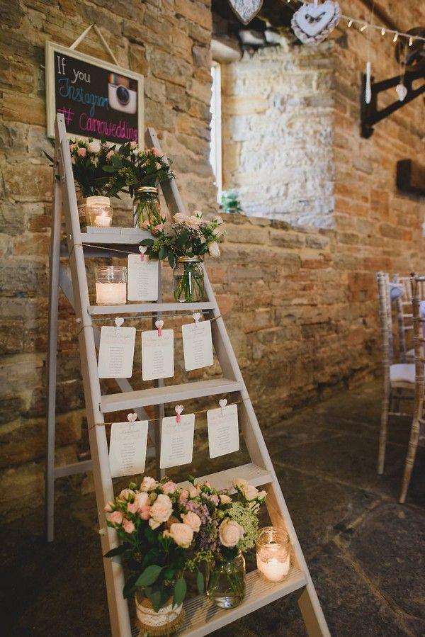 Vintage Hochzeit Sitzplan Display Mit Leiter Inspiration In 2019