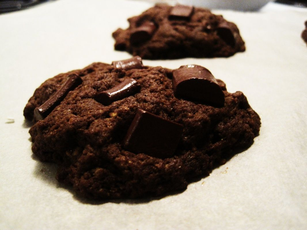 Vegan Mayan Hot Chocolate cookies for two. Sweet, salty, spicy- perfect!