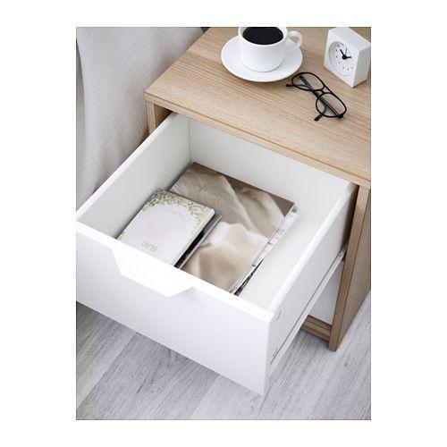 askvoll kommode mit 2 schubladen, eicheneff wlas, weiß | drawers, Hause deko