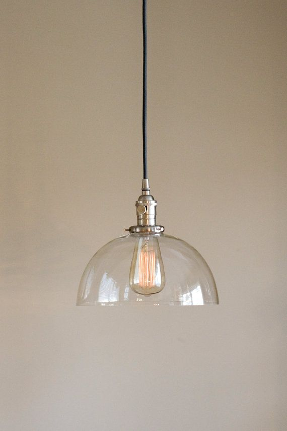 dome lighting fixtures. Large Glass Dome Pendant Light Fixture Clear Handblown With Down Rods Lighting Fixtures