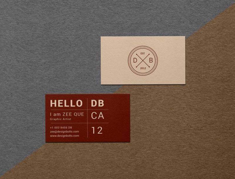 Free-Textured-Business-Card-Mockup-PSD | da Smart Shop | Pinterest ...