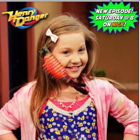 Piper has a alien bug on her face on Henry danger. I loved this episode