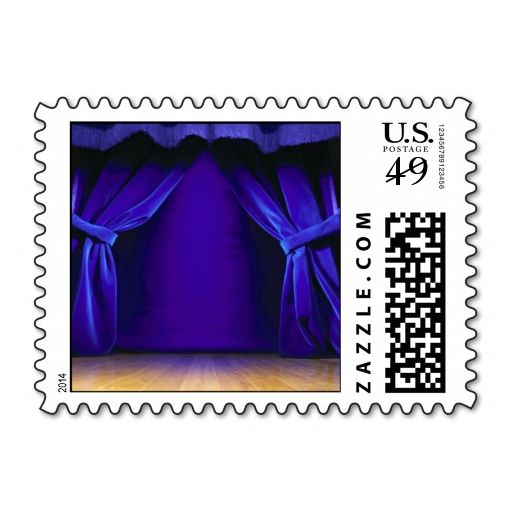 Empty Stage With Curtains Postage. I love this design! It is available for customization or ready to buy as is. All you need is to add your business info to this template then place the order. It will ship within 24 hours. Just click the image to make your own!