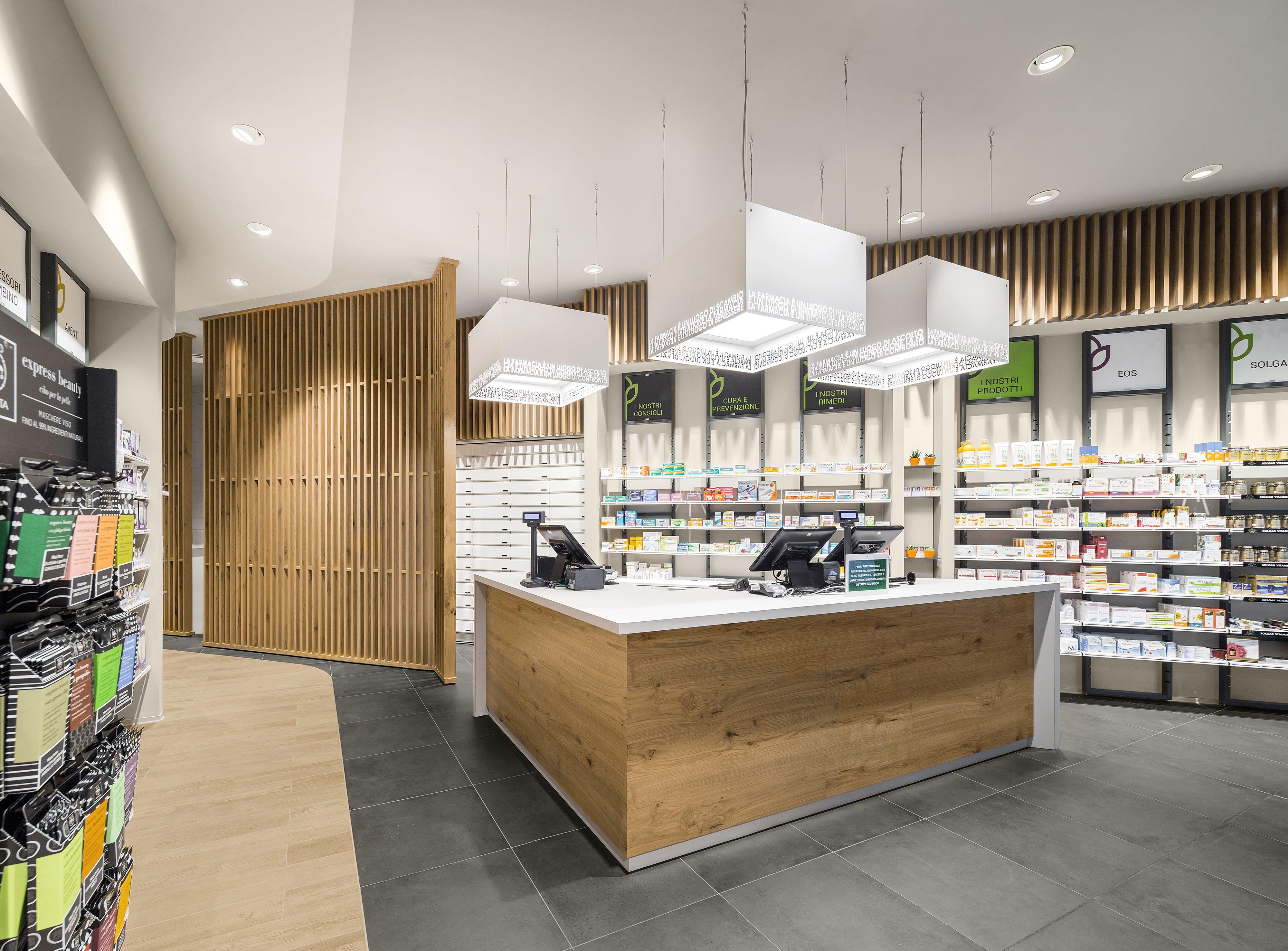Farmacia riva by amlab pharmacy design retail design store design pharmacy shelving