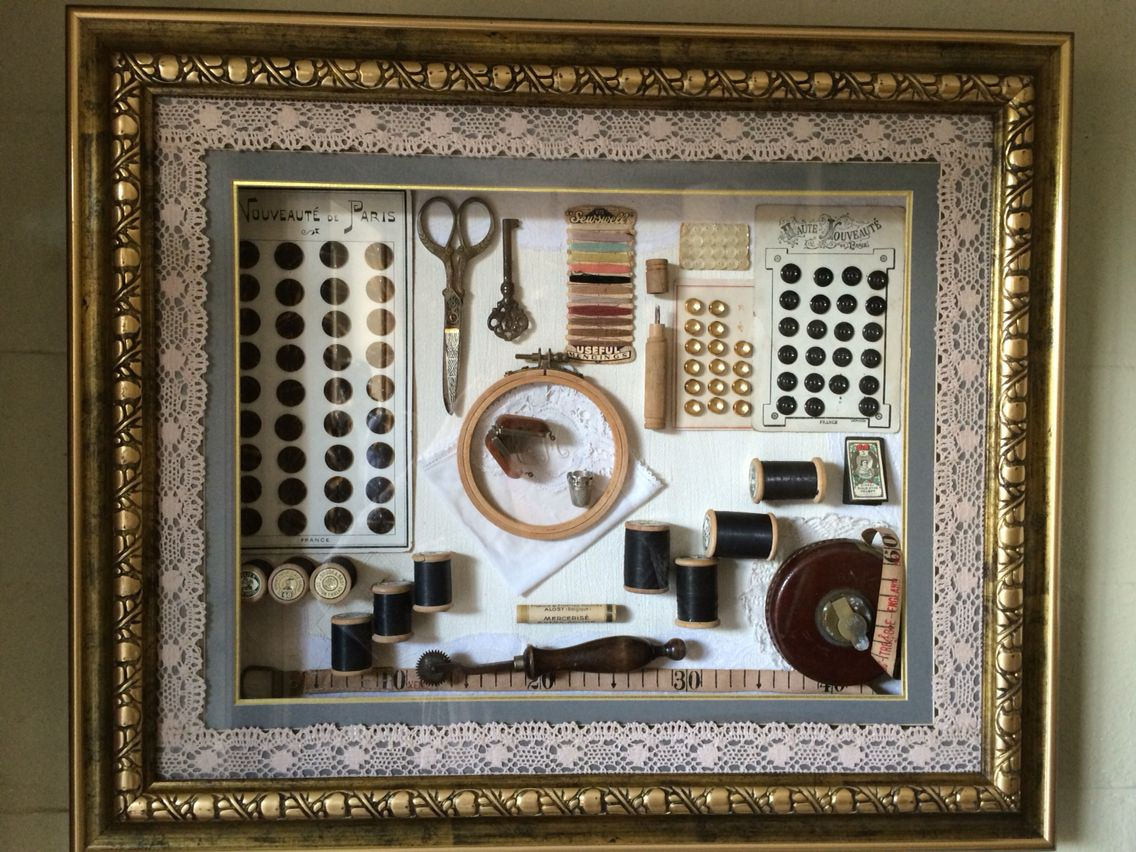 Naaikader Sewing frame Shadow box, Frame, Decor