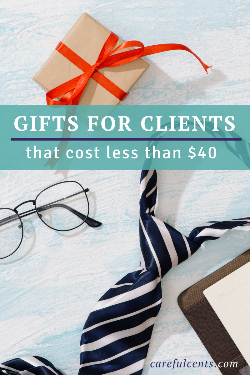 "Say ""thank you"" with these top 15 gifts for clients that are unique and inexpensive!"