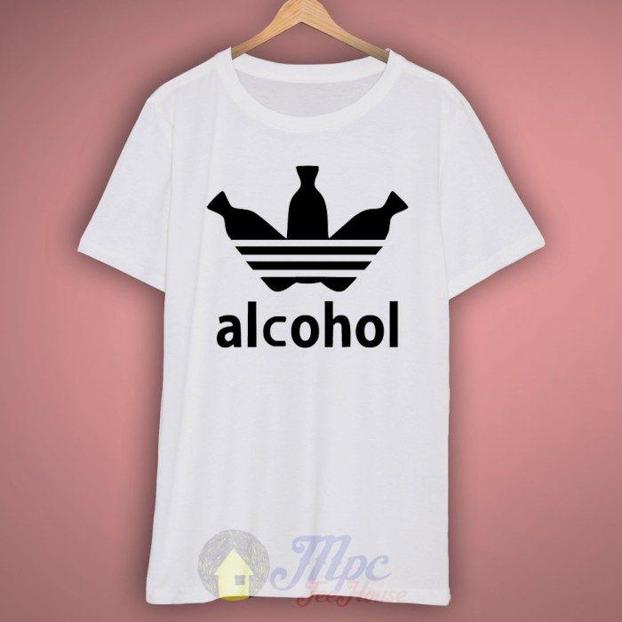 dc29e82a2e Adidas Parody Alcohol T Shirt #parody #humor #funny #adidas #alcohol #tshirt  #graphicshirt #graphictee