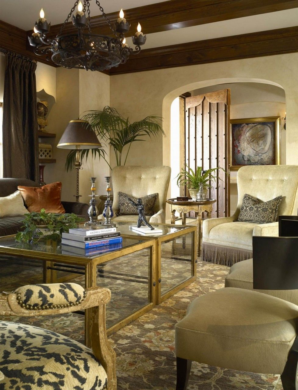 Download Designer Modern Tuscan Living Room With Old World Style Living Room  Chandelier Floor Lamp Tuscany