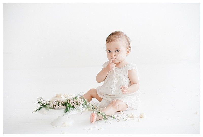 Baby Cake Smash Photography | Smash the Cake Photoshoot by Miranda North | Baby Studio Photography Los Angeles and Orange County
