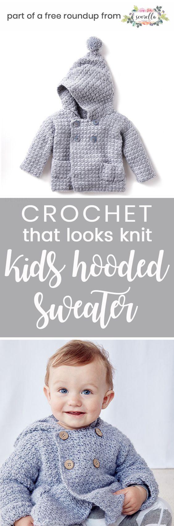 Kids Crochet Patterns that Look Knit | Crochet bufanda, Recién ...