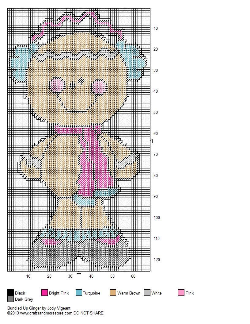 Bundled Up Ginger Pg 2/2 | Plastic Canvas Christmas | Pinterest ...