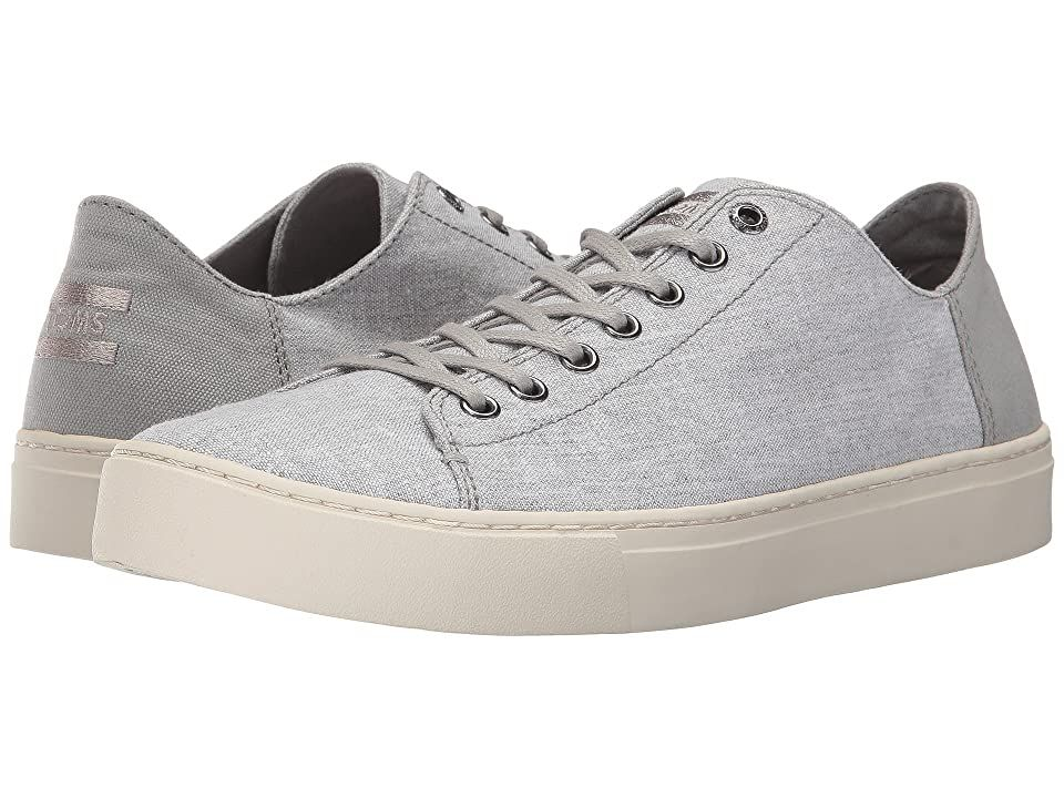 Toms Lenox Drizzle Grey Slub Chambray Men S Lace Up Casual Shoes With Every Pair Of Shoes You Purchase Toms Will Give A N In 2020 Casual Shoes Womens Sandals Shoes
