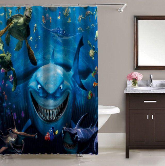 Best Disney Pixar Finding Nemo Print On High Quality Waterproof Shower Curtain Unbranded Modern Summer2017 A Curtains Shower Curtain Disney Pixar
