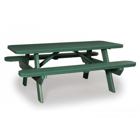 Amish 3x6 Polywood Picnic Table With Benches Amish