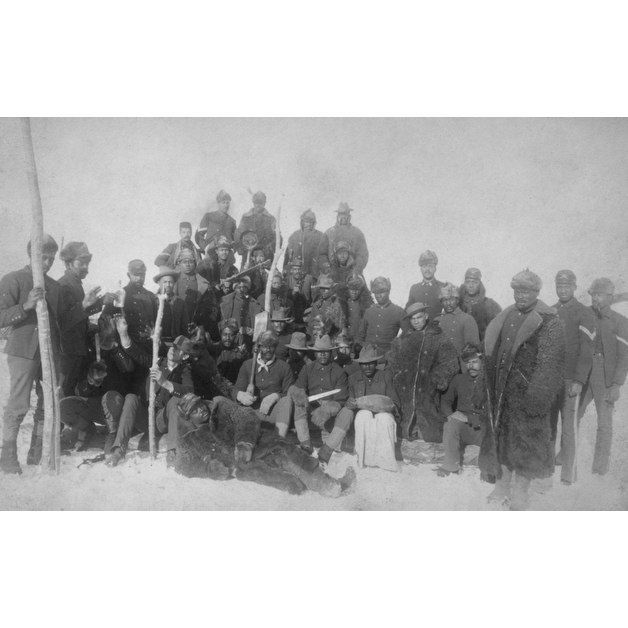 Black Buffalo Soldiers of the 25th Infantry - Vintage Photograph (Keepsake Tin) - Keepsake Tin   - African-American History -