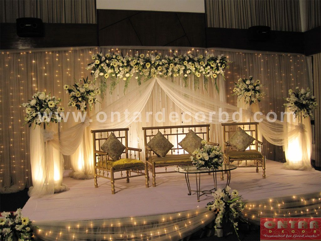 Wedding reception simple stage decoration  Pin by Muwaffiqa Yousuf on Wedding ideas  Pinterest  Stage Flower