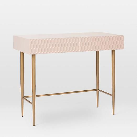 Audrey Mini Desk - Blush