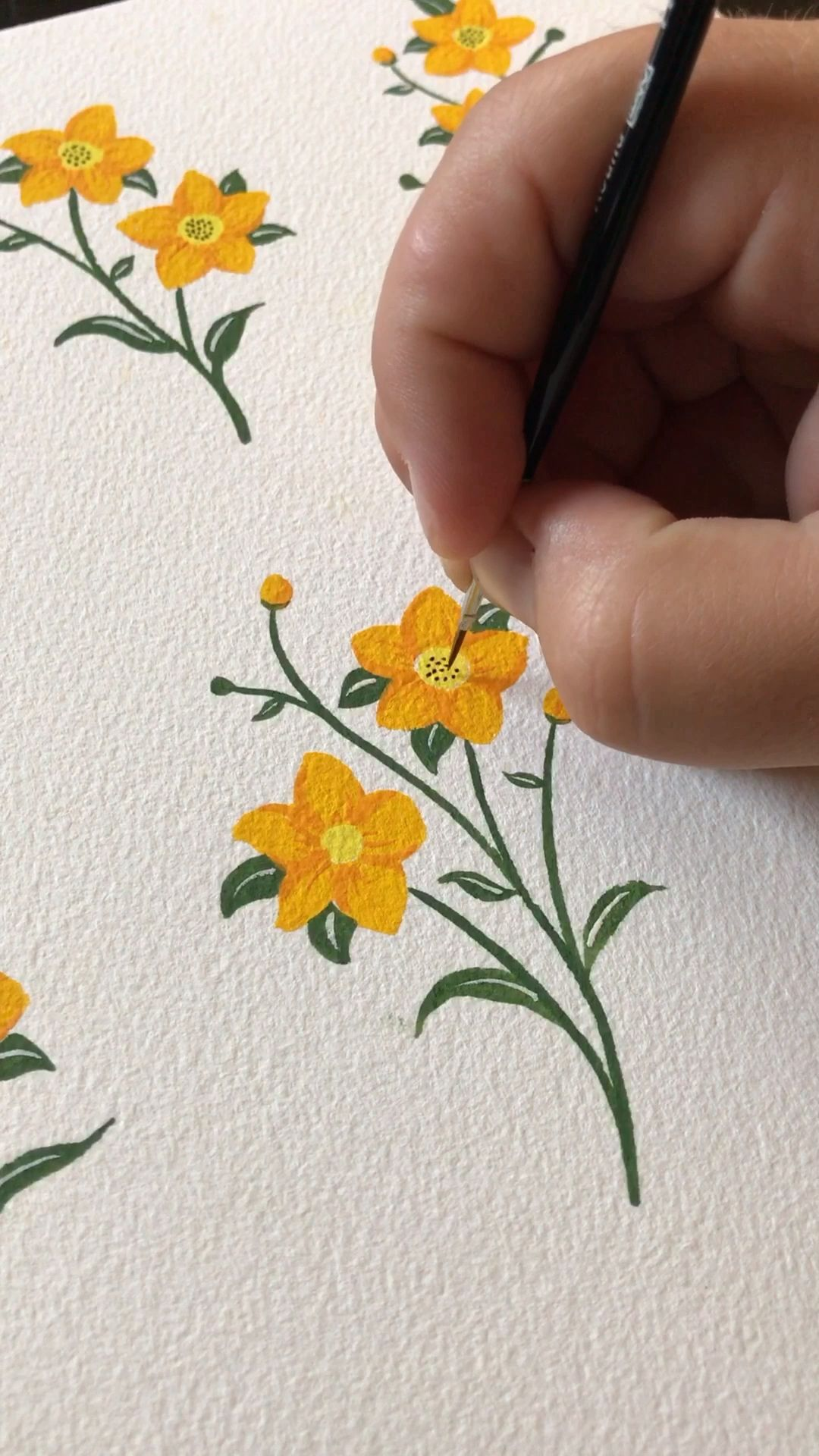 It's so fun to let loose and gouache paint flowers. See more on my YouTube and on BoelterDesignCo.com. Gouache by Holbein. Artist is Philip Boelter.