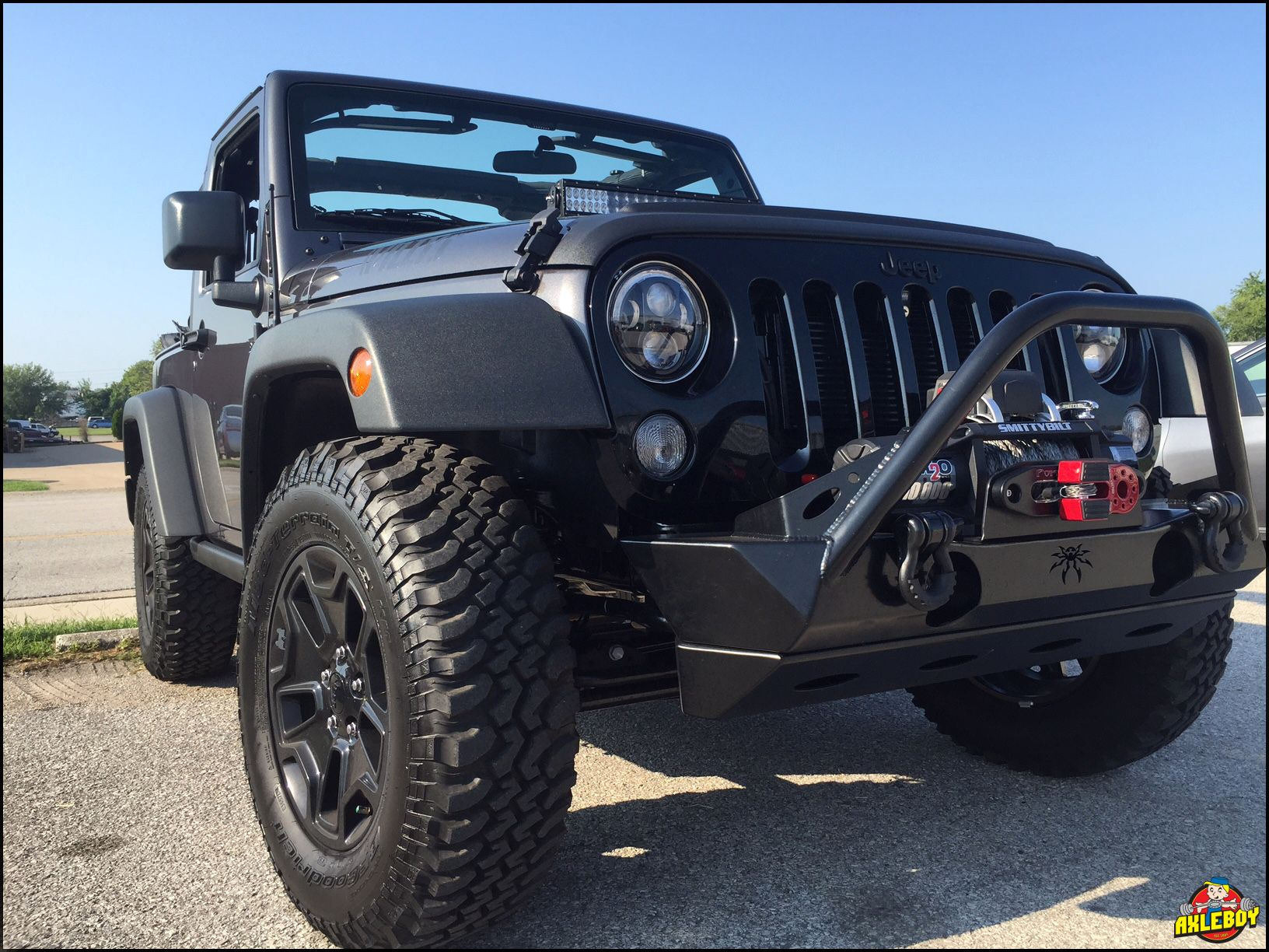 2016 jeep wrangler willys with a poison spyder front bumper and smittybilt winch. Black Bedroom Furniture Sets. Home Design Ideas