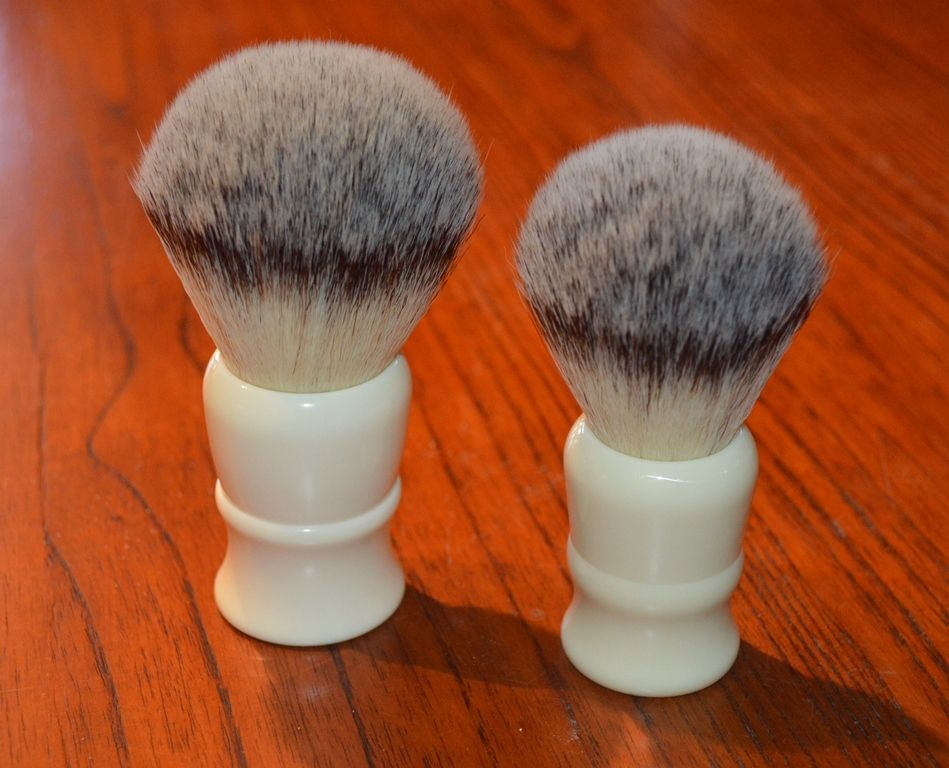 whipped dog 24mm and 30mm synthetic shaving brushes the