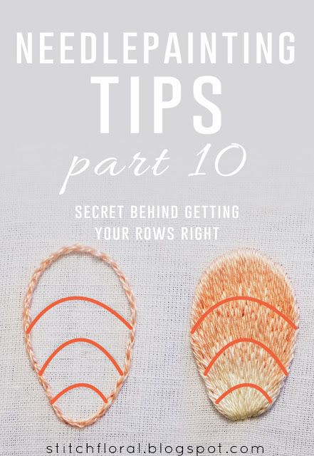 Needlepainting tips part 10: secret behind getting the rows right