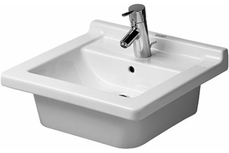 Duravit Furniture Washbasin Countertop Rectangular White
