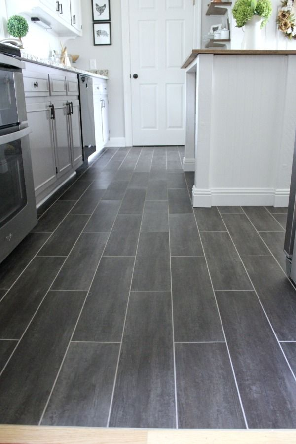 Diy kitchen flooring luxury vinyl tile vinyl tiles and for Grey kitchen floor tiles ideas