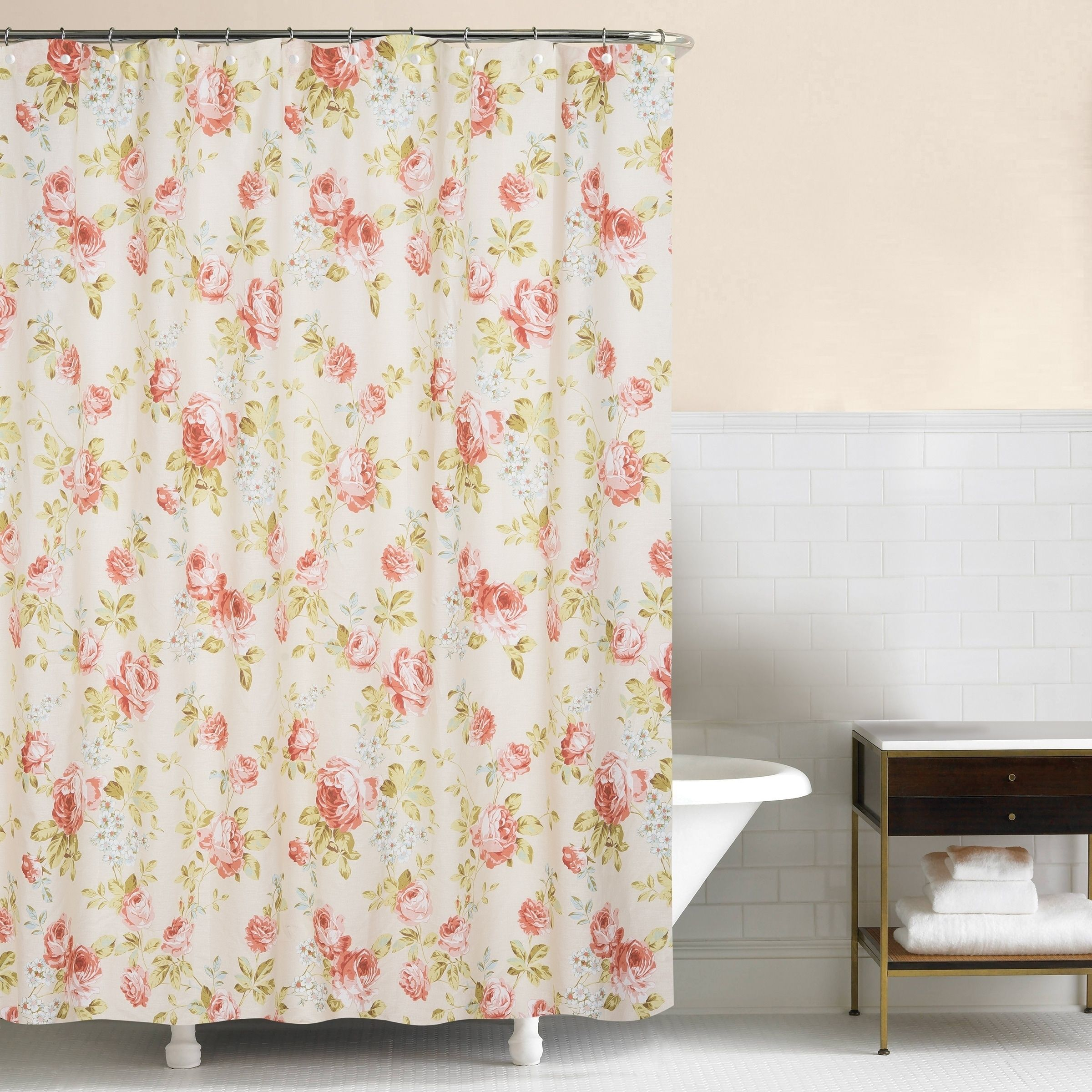 Whitney 72x72 Cotton Shower Curtain Green C F Home Products In