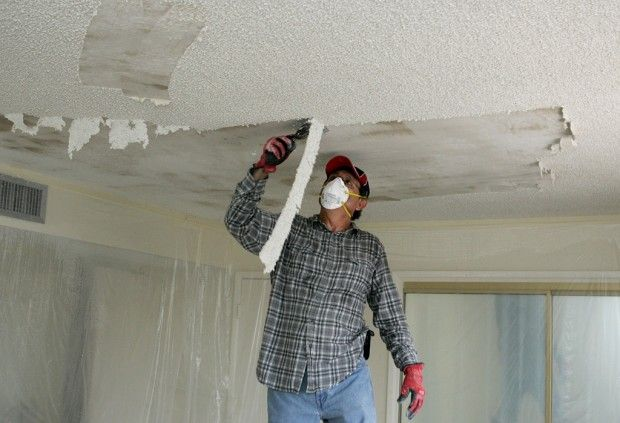 Removing A Textured Ceiling Ceiling Texture Popcorn Ceiling