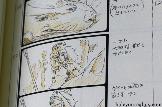 Princess Mononoke - The Storyboard Book - Halcyon Realms - Art