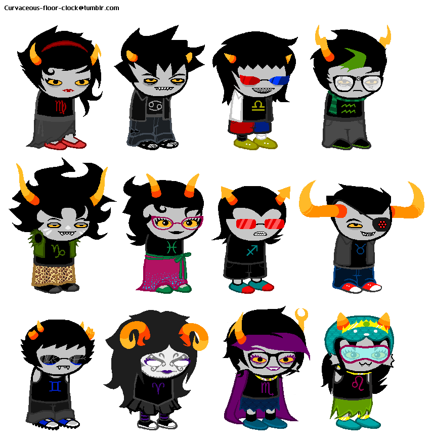 Bloodswap Sprites By Kankri Chandeviantart On DeviantArt Homestuck Trolls