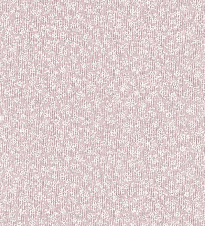 Papel pintado flores vintage blancas fondo rosa 818 900 cdm pinterest - Papel pintado rosa ...