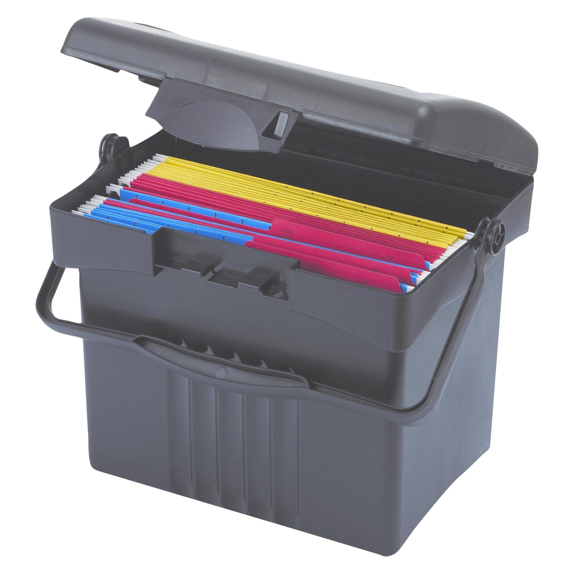 Storex Portable Storage Box, Letter Size, 14W X 11 14D X