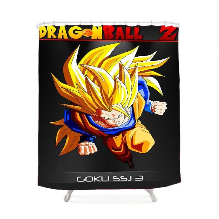 Dragon Ball Z Goku Ssj 3 Shower Curtain