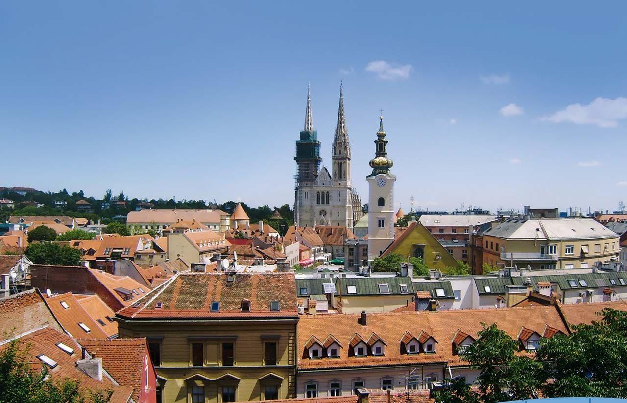 Zagreb Capital Da Croacia Zagreb Paris Skyline House Styles