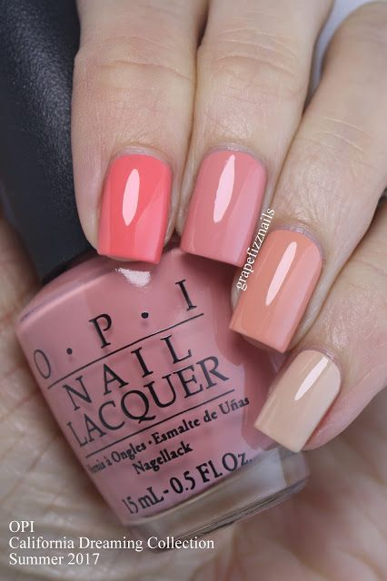 Press samples Hey Dolls! I picked a few polishes from the new OPI California Dreaming Collection for Summer 2017 for a skittle ma...