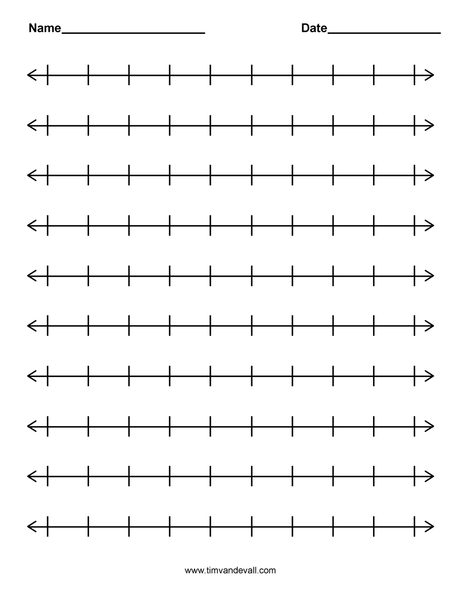 medium resolution of number lines printable - Google Search   Number line