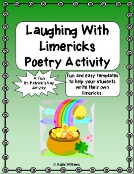 St Patrick S Day Fun Laughing With Limericks Free 0 Pinned By Www Fernsmithsclassroomideas Com Writing Templates Writing Activities Student Writing