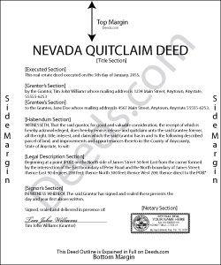 quit claim deed form nevada  Nevada Quit Claim Deed Form | Home projects | Quitclaim deed ...