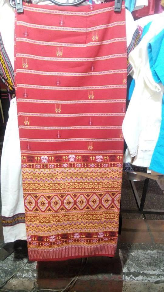 Best Long Skirt Silk Thai Sarong Tradition Cotton by Bankkiiz