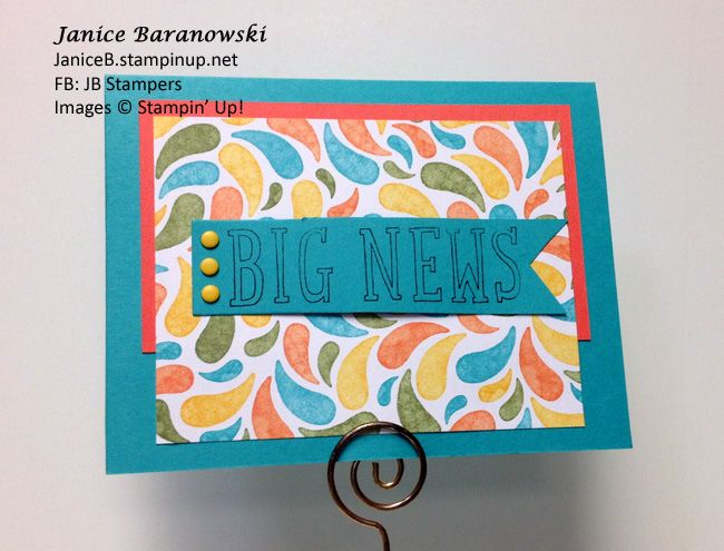 Birthday Bash #1-aother Big News birthday card. - #JBStampers