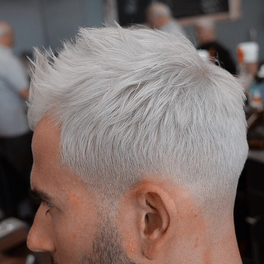 White hair fade | Men\'s hair | Pinterest | White hair, Gray hair ...