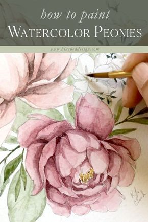 Watercolor Peony Tutorial is part of Watercolor paintings, Watercolor peonies, Watercolor paintings tutorials, Watercolor painting techniques, Watercolor art, Art painting - Come behind the scenes with me as I create this watercolor peony tutorial  While I lost some of the footage for this tutorial, I am still able to share one of my favorite blending techniques (using two brushes instead of one!) and how I disperse deep, bold pigment with minimal layers  watercolorpe