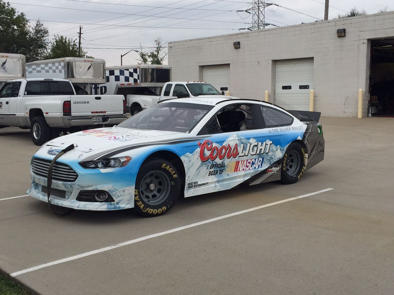 Nascar show car ford fusion