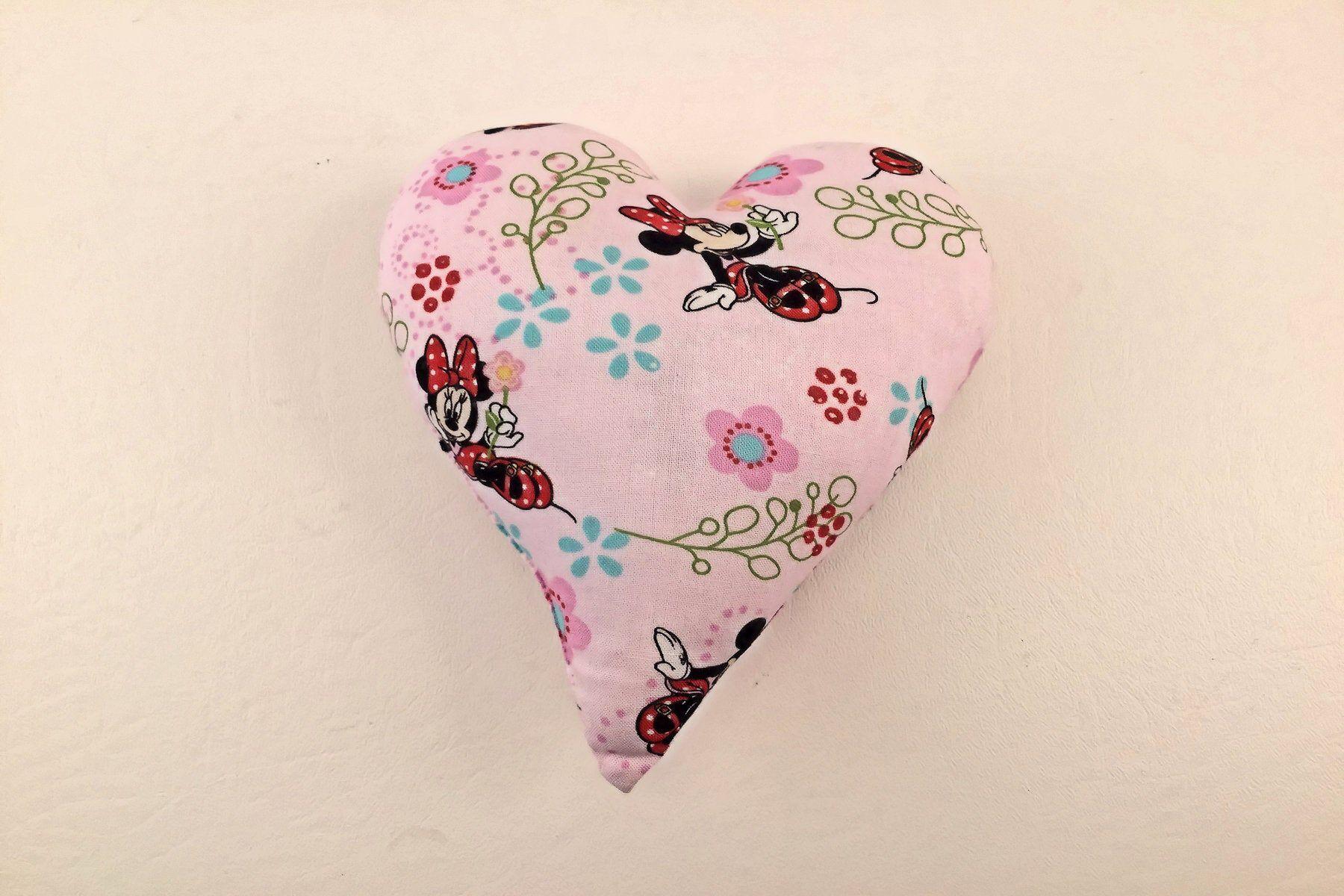 Heart pillow minnie mouse valentine heartshaped mini