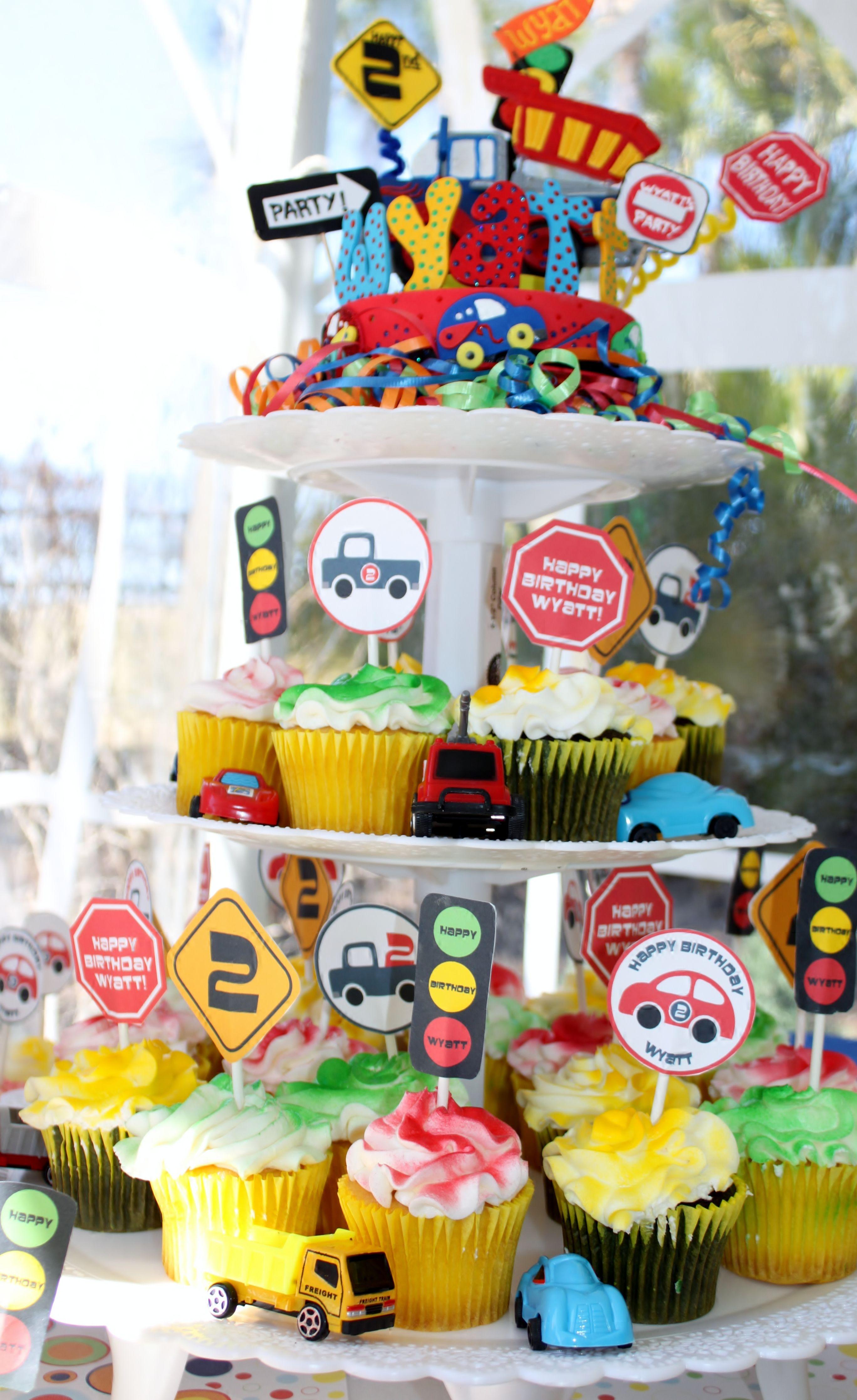 Birthday cake topper Monster truck party Dump trucks Monster