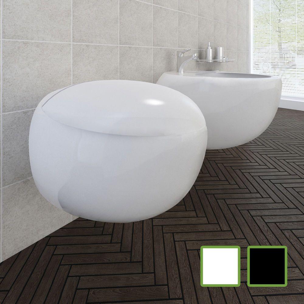 details zu design wand-hänge wc toilette + hänge bidet wandbidet