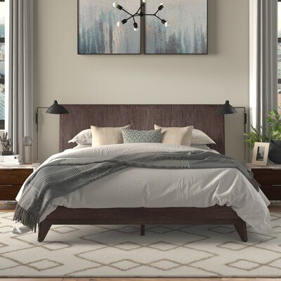 AllModern Solid Wood Low Profile Platform Bed | Wayfair